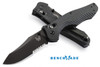 Benchmade 810SBK Osborne Contego - CPM-M4 Combo Edge Blade - Contoured G-10 Handle - Carbide Glass Breaker - CUTLERY SHOPPE