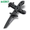 """CRKT M16-13SFG Special Forces Tanto Folder - 3.5"""" Combo Edge Black Finish Blade - CUTLERY SHOPPE"""