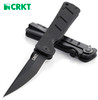 "CRKT 2926 SHIZUKA NO HEN FRAME LOCK FOLDER. 3.625"" AUS-8 PLAIN EDGE BLADE. BLACK G-10 HANDLE. CUTLERY SHOPPE"