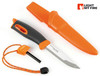 "Light My Fire Swedish FireKnife - 3.9"" Sandvik 12C27 Blade - w/Swedish FireSteel - Orange"
