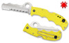 "SPYDERCO C79PSYL ASSIST SALT. 3.68"" H-1 COMBO EDGE BLADE. CARBIDE GLASS BREAKER. MARINE YELLOW FRN HANDLE. CUTLERY SHOPPE"