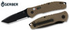 "Gerber 30-000717 Propel Downrange AUTOMATIC - 3.5"" Black Finish 50/50 Edge Blade - Desert Tan G-10 Handle - CUTLERY SHOPPE"