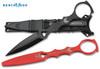 "Benchmade 176BK-COMBO SOCP Skeletonized Dagger - 3.22"" Double Edge Blade - Black Dagger/Black Sheath & Red Trainer/Black Sheath - CUTLERY SHOPPE"