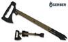 Gerber Downrange Tomahawk w/ Prybar- 420HC Steel Body w/ Cerakote Black Coating & Desert Tan G10 Handle Scales - CUTLERY SHOPPE