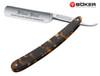 BOKER 140512 SILVER STEEL TORTOISE STRAIGHT RAZOR. 6/8 BLADE. CUTLERY SHOPPE