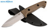"BENCHMADE 162-1 BUSHCRAFT EOD FIXED BLADE KNIFE. 4.4"" CPM-S30V PLAIN EDGE BLADE. SAND COLORED G-10 HANDLE. MOLDED KYDEX SHEATH. CUTLERY SHOPPE"