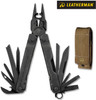 "Leatherman 831366 Super Tool 300 EOD - 4.5"" Closed - 19 Tools  - Black Oxide Finish - Brown Nylon Molle Sheath"