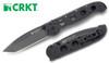 "CRKT M16-04A KIT CARSON DESIGN AUTOMATIC FOLDER. 4.0"" DLC COATED CPM-154CM TANTO POINT BLADE. CUTLERY SHOPPE"