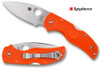 C41, C41POR5, NATIVE 5, CPM-S90V BLADE, ORANGE FRN HANDLE, SPYDERCO, CUTLERY SHOPPE EXCLUSIVE