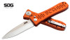 "SOG Knives SE-61OR SPEC ELITE II AUTO - 4.0"" Satin Finish Blade - Orange Anodized 6061-T6 Aluminum Handle - CUTLERY SHOPPE EXCLUSIVE"