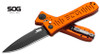 "SOG KNIVES SE-62OR SPEC ELITE II AUTO - 4.0"" TINI FINISH AUS-8 BLADE. ORANGE ANODIZED 6061-T6 ALUMINUM HANDLE. CUTLERY SHOPPE EXCLUSIVE"