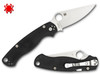 "SPYDERCO C81GPLE2 PARA MILITARY 2 LEFT HAND VERSION. 3.44"" SATIN FINISH PLAIN EDGE CPM-S30V BLADE. BLACK G-10 HANDLE. CUTLERY SHOPPE"