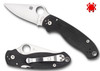 "SPYDERCO C223GP PARA 3 COMPRESSION LOCK FOLDER. 2.95"" SATIN FINISH PLAIN EDGE CPM-S30V BLADE. BLACK G-10 HANDLE. CUTLERY SHOPPE"