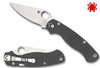 SPYDERCO PARA 2 C81GPDGY2, MAXAMET BLADE, DARK GRAY G-10 HANDLE, CUTLERY SHOPPE