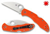 "SPYDERCO C11FPWCOR WHARNCLIFFE DELICA 4. 2.87"" CPM-S30V BLADE. ORANGE FRN HANDLE. CUTLERY SHOPPE EXCLUSIVE. www.cutleryshoppe.com"