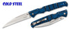 "COLD STEEL 62P2A FRENZY II. 5.5"" WHARNCLIFFE S35VN BLADE. BLUE/BLACK G-10 HANDLE. CUTLERY SHOPPE"