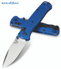 "BENCHMADE 535 BUGOUT AXIS LOCK FOLDING KNIFE. 3.24"" CPM-S30V DROP POINT BLADE. BLUE GRIVORY HANDLE. CUTLERY SHOPPE"