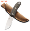 "Benchmade HUNT 15400 Mel Pardue Hunter Fixed Blade - 3.48"" CPM-S30V Drop Point Blade - Micarta Handle - Leather Belt Sheath - CUTLERY SHOPPE"
