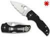 "Spyderco C230MBGS Lil' Native Back Lock - 2.47"" CPM-S30V Serrated Edge Blade - Black G-10 Handle - CUTLERY SHOPPE"