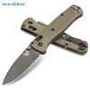 "BENCHMADE 535 BUGOUT 535GRY-1 AXIS LOCK. 3.24"" CPM-S30V PLAIN EDGE DROP POINT BLADE.NITRIDED COATED BLADE. RANGER GREEN GRIVORY HANDLE. CUTLERY SHOPPE"