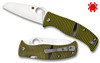 "Spyderco C217GPSF Caribbean Salt - 3.7"" Plain Edge Sheepsfoot Shaped Rustproof LC200N Blade - Layered Black/Green G-10 Handle - CUTLERY SHOPPE"