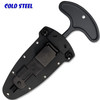 """COLD STEEL 36MJ DROP FORGED PUSH KNIFE. 4.0"""" DOUBLE EDGE GREY TEFLON COATED 52100 HIGH CARBON STEEL. ONE PIECE CONSTRUCTION. SECURE-EX SHEATH W/ULTI-CLIP. SHOWN IN SHEATH. CUTLERY SHOPPE"""