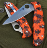 "SPYDERCO C10ZFPOR ENDURA 4. 3.8"" PLAIN EDGE HAP40/SUS410 BLADE. ORANGE/BLACK ZOME FRN HANDLE. JEFF'S COLLECTOR #001. CUTLERY SHOPPE EXCLUSIVE"