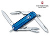 "VICTORINOX SWISS ARMY #53232 MANAGER. 58MM (2.28"") CLOSED LENGTH. BLUE TRANSLUCENT SCALES. CUTLERY SHOPPE"