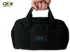ZERO TOLERANCE ZT997  KNIFE STORAGE BAG. 18 PADDED POCKETS - HOLDS 18 KNIVES. SHOWN IN HAND. CUTLERY SHOPPE