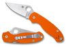 "SPYDERCO C223GPOR PARA 3. 2.95"" SATIN FINISH CTS-XHP BLADE. COMPRESSION LOCK. ORANGE G-10 HANDLE. CUTLERY SHOPPE EXCLUSIVE"