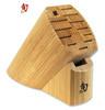 SHUN Classic DM0830 - Bamboo Oval Block 13 Slot - CUTLERY SHOPPE