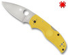 "SPYDERCO C41PYL5 NATIVE 5 SALT. 2.95"" PLAIN EDGE LC200N BLADE. HI-VIS MARINE YELLOW FRN HANDLE. CUTLERY SHOPPE"
