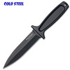 "COLD STEEL 36MB DROP FORGED BOOT KNIFE. 5.0"" DOUBLE EDGE TEFLON COATED 52100 HIGH CARBON STEEL. ONE PIECE CONSTRUCTION. SECURE-EX SHEATH W/ULTI-CLIP. CUTLERY SHOPPE"