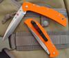 "Al Mar 5HDOT-ZL Eagle HD ""Heavy Duty"" - Orange G-10 Scales - ZDP-189 Laminted Talon Plain Edge Blade - CUTLERY SHOPPE EXCLUSIVE - SOLD OUT"