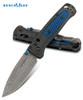 "BENCHMADE KNIVES 535-191 BUGOUT AXIS LOCK FOLDER. 3.24"" MUNIN DAMASTEEL BLADE. GHOST CARBON FIBER HANDLER W/BLUE C-TEK INLAYS. CUTLERY SHOPPE"