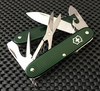 "VICTORINOX SWISS ARMY 0.8231.24.CS PIONEER X. 93MM (3.66"") GREEN ALOX HANDLE. CUTLERY SHOPPE EXCLUSIVE"