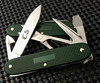 "VICTORINOX SWISS ARMY 0.8231.24.CS PIONEER X. 93MM (3.66"") GREEN ALOX HANDLE. REVERSE SHOWN. CUTLERY SHOPPE EXCLUSIVE"