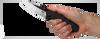 "ZERO TOLERANCE 0850CF SINKEVICH/REXFORD FOLDER. 3.75"" BLACK DLC FINISH CPM-20CV BLADE. CARBON FIBER COMPOSITE HANDLE. SPRINT RUN. SHOWN IN HAND. CUTLERY SHOPPE"