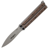 """Bradley BCC902 Kimura Butterfly Bali-Song Knife - 3.6"""" 154CM Blade - SS Handle w/Coyote G-10 Scales"""