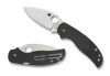 "SPYDERCO C123PBK SAGE 5 LIGHTWEIGHT. 3.0"" SATIN FINISH PLAIN EDGE CPM-S30V BLADE. COMPRESSION LOCK. BLACK FRN HANDLE. CUTLERY SHOPPE"