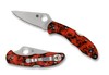"SPYDERCO C11ZFPOR DELICA 4 FOLDER. 2.9"" PLAIN EDGE HAP40/SUS410 BLADE. ORANGE/BLACK ZOME FRN HANDLE. CUTLERY SHOPPE EXCLUSIVE"