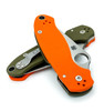 "SPYDERCO C223GPOROD PARA 3. 2.95"" SATIN FINISH CPM REX45 BLADE. COMPRESSION LOCK. ORANGE AND OD GREEN G-10 HANDLE. LIMITED EDITION OF ONLY 600 PIECES. BOTH SIDES SHOWN CLOSED. CUTLERY SHOPPE EXCLUSIVE"