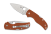 "SPYDERCO C41GPBORE5 NATIVE 5 G-10 BACKLOCK. 2.98"" SATIN FINISH PLAIN EDGE CPM-REX45 BLADE. BURNT ORANGE G-10 HANDLE. SPRINT RUN. CUTLERY SHOPPE"