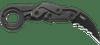 "CRKT 4040V Provoke Folding Karambit w/VEFF Serrations - 2.41"" Titanium Nitride Finish D2 Blade - 6061-T6 Aluminum Handle"