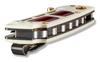 "BENCHMADE 486-201 SAIBU NAKAMURA DESIGN AXIS FOLDER. 2.98"" PLAIN EDGE DAMASTEEL BLADE. IVORY G-10 HANDLE W/CRIMSON G-10 INLAY. SPINE DETAIL SHOWN. GOLD CLASS"