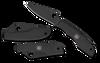 """Spyderco C138BKP GrassHopper Black Slip Joint Folder - 2.3"""" Plain Edge Sandvik 12C27 Blade - Stainless Steel Handle"""
