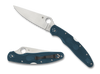 "SPYDERCO C07FPK390 POLICE 4 LIGHTWEIGHT. 4.38"" PLAIN EDGE FFG K390 BLADE. BLUE FRN HANDLE. CUTLERY SHOPPE"