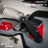 """Spyderco C81GPWC2 Para Military 2 - 3.44"""" CPM-S30V Satin Finish Plain Edge Wharncliffe Blade - Black G-10 Handle - CUTLERY SHOPPE EXCLUSIVE - SOLD OUT"""