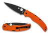 "SPYDERCO C244GPORBK NATIVE CHIEF FOLDER. 4.1"" DLC FINISH CTS-XHP BLADE. ORANGE G-10 HANDLE. CUTLERY SHOPPE EXCLUSIVE."