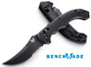 "BENCHMADE 8600SBK BEDLAM AUTOMATIC. 4.0"" BK1 BLACK COMBO EDGE 154CM BLADE. CONTOURED BLACK G-10 HANDLE. CUTLERY SHOPPE"